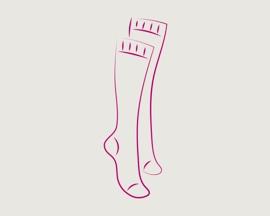 Ikona kompresních punčoch pro prevenci trombózy